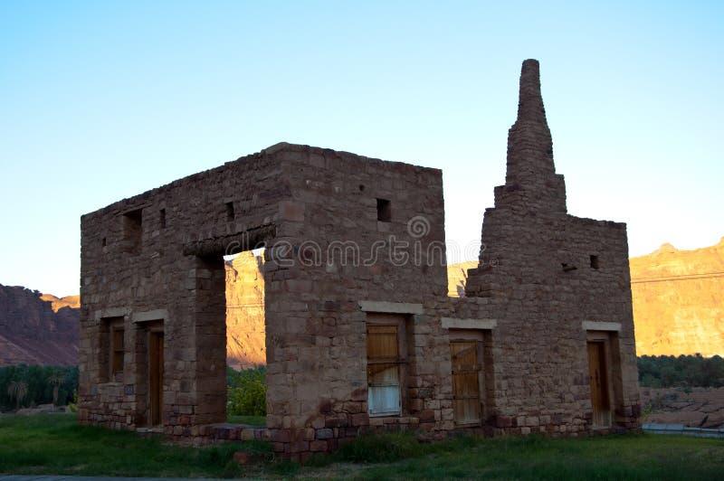 Руины в старом городке al-Ula стоковое фото rf