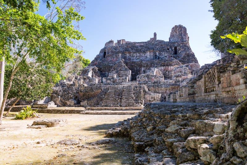 Руины в Becan, Мексике стоковое фото rf