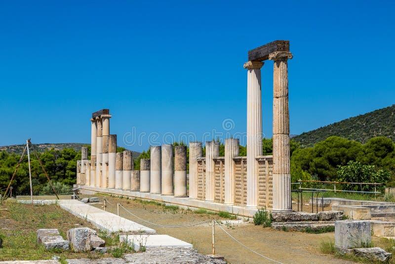 Руины в Epidavros, Греции стоковые фото