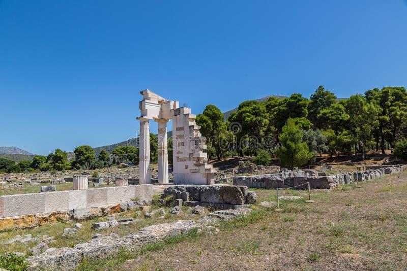Руины в Epidavros, Греции стоковые фотографии rf