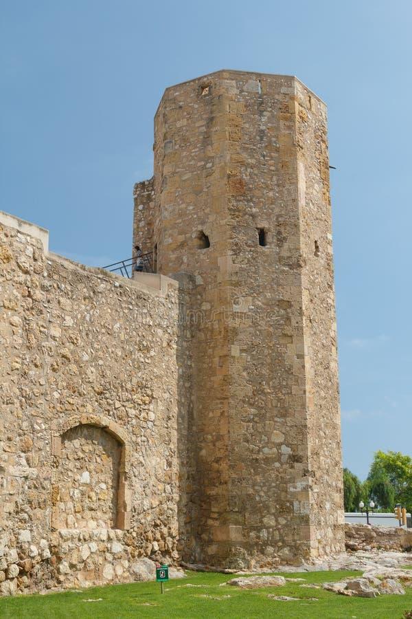 Руины городищ города Таррагоны средневековых стоковое изображение