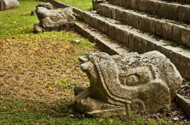 Руины города Chichen Itza пре-колумбийского майяского Мексика стоковые фото