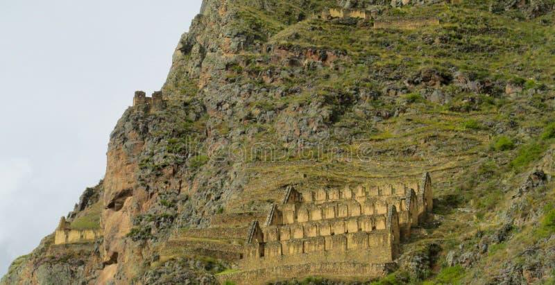 Руины города inca Ollantaytambo стоковое изображение rf