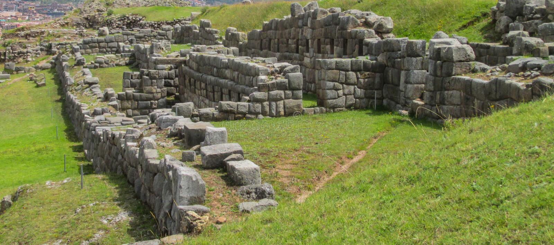 Руины города inca Sacsayhuaman стоковая фотография rf