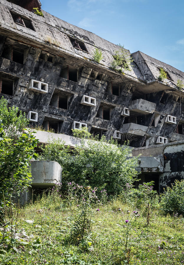 Руины гостиницы стоковая фотография