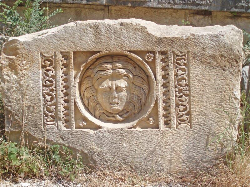 Руины грека индюк Греческие руины, древность стоковая фотография rf