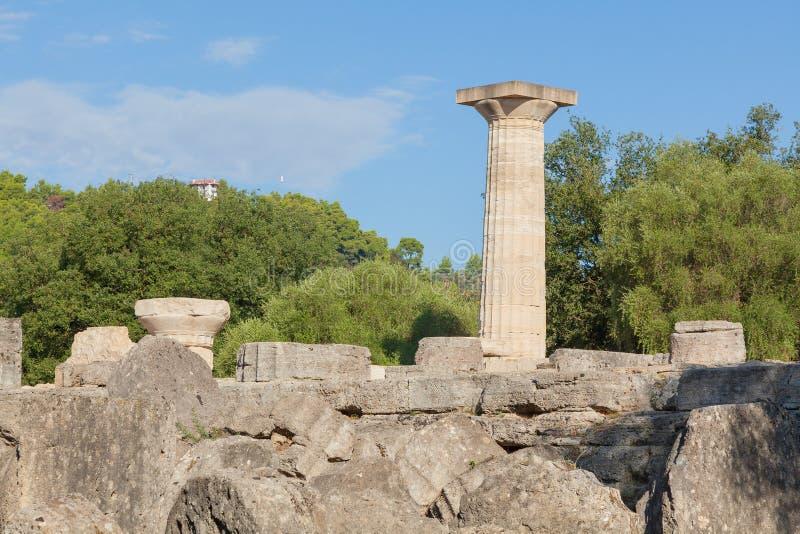 Руины Греции Олимпии виска Зевса стоковая фотография rf