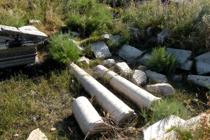 Руины греческого древнего города в западной Турции стоковая фотография rf