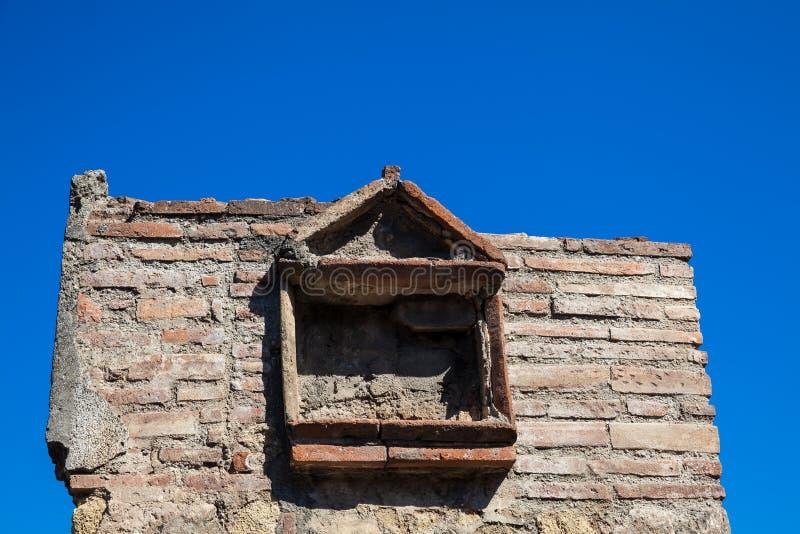 Руины домов на древнем городе Помпеи стоковые фотографии rf