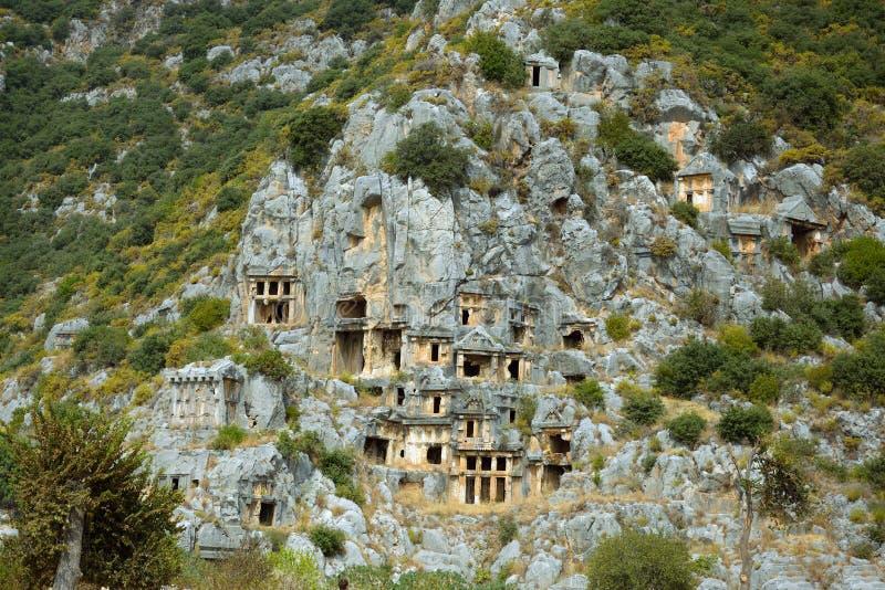 Руины древнего города Миры столицы королевства Lycian стоковая фотография rf