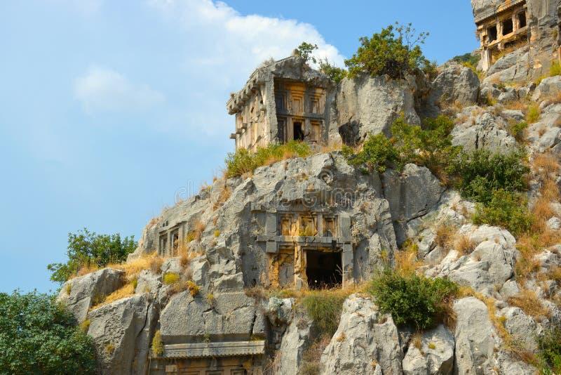 Руины древнего города Миры столицы королевства Lycian стоковое изображение rf