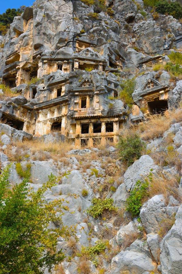Руины древнего города Миры столицы королевства Lycian стоковые фото