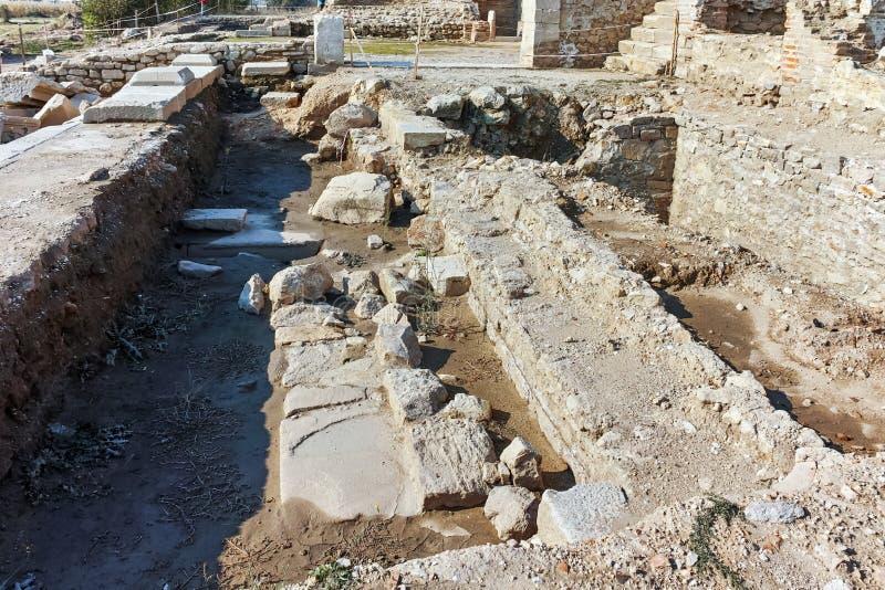 Руины древнего города Heraclea Sintica - построенного Филиппом II из Macedon, Болгарии стоковая фотография