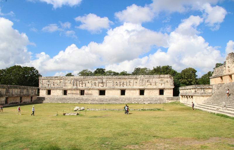 Руины древнего города Uxmal стоковое изображение