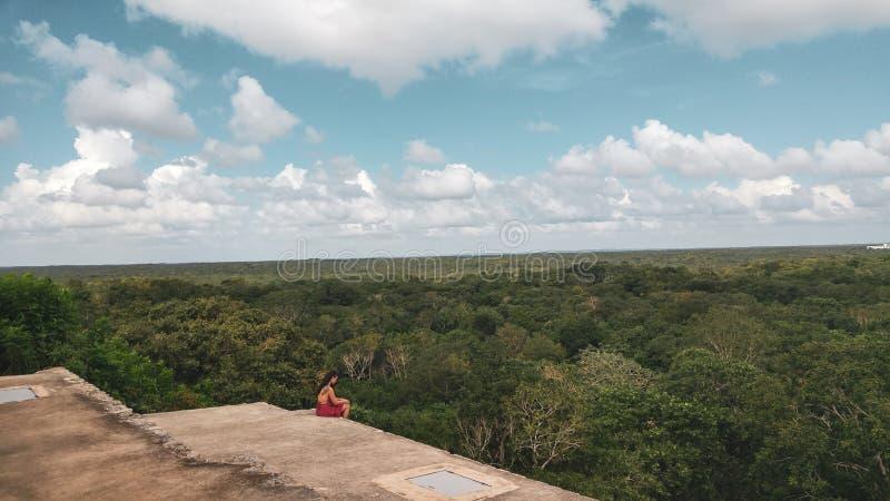 Руины древнего города Uxmal стоковое изображение rf