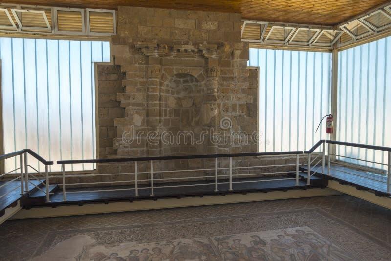 Руины древнегреческия и римского города Paphos Известный, стоковое фото