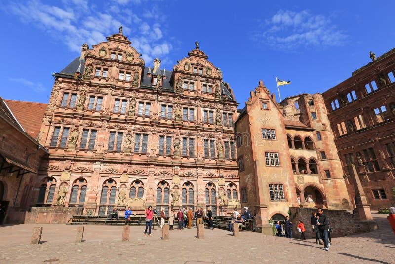Руины замка Гейдельберга в Гейдельберге, Германии стоковое изображение rf