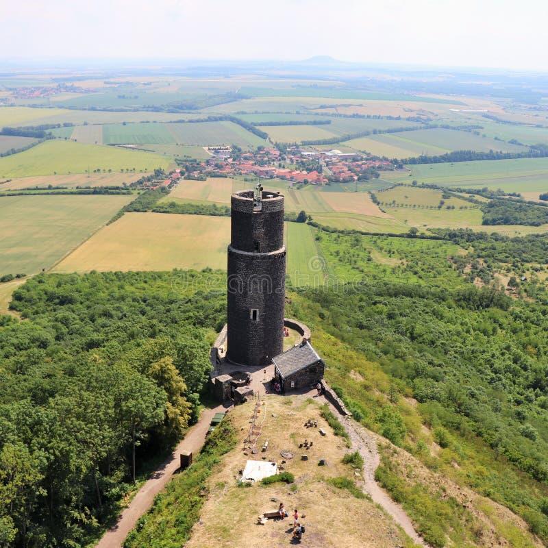 Руины замка положения вызвали Hazmburk стоковое фото