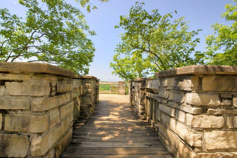 Руины замка Ha Ha Tonka обозревают стоковое изображение rf