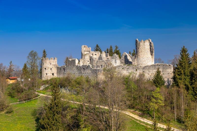 Руины замка Hohenfreyberg стоковые фотографии rf