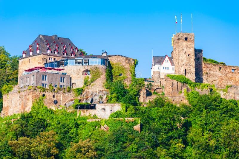 Руины замка Rheinfels в Sankt Goar стоковое изображение