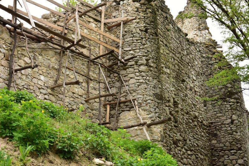 Руины замка Vinné стоковая фотография