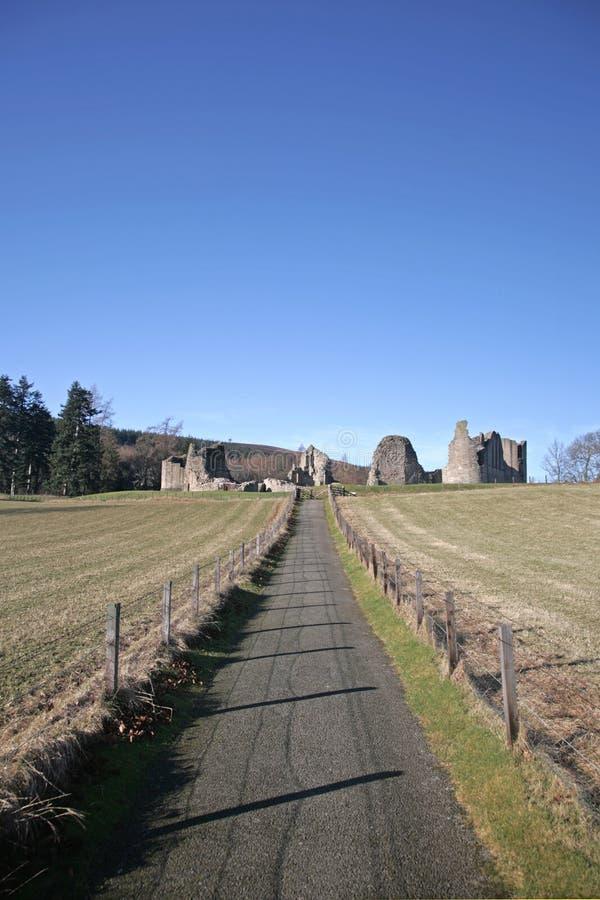 руины замока kildrummy стоковое изображение rf
