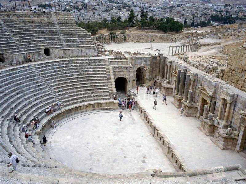 руины Иордана jerash стоковое изображение rf