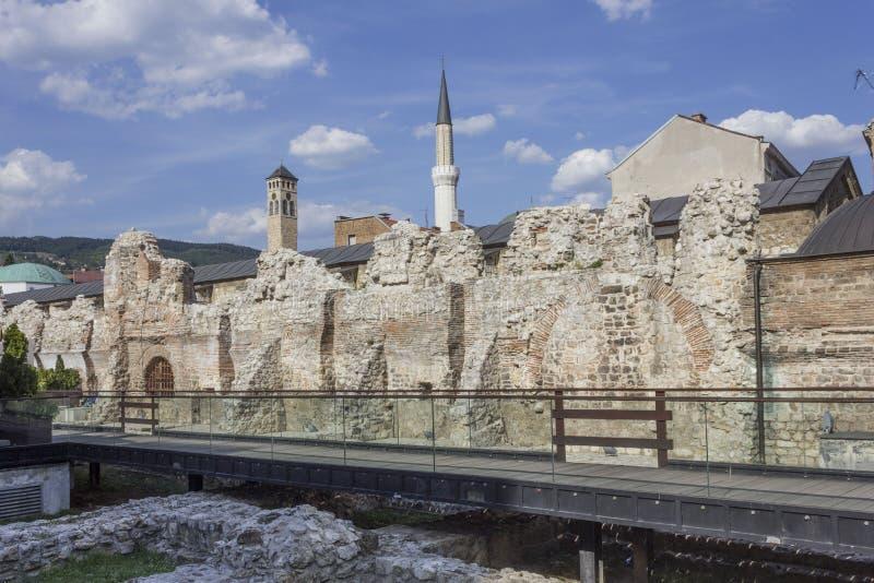 Руины караван-сарая Taslinan в Сараеве стоковые изображения rf