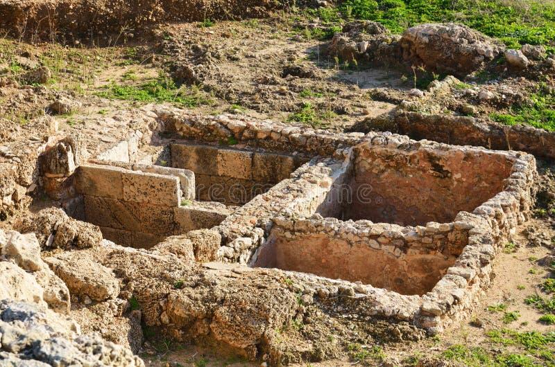Руины крепости крестоносцев в Израиле стоковые изображения