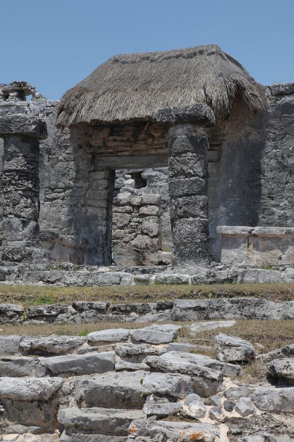 Руины майяских городов стоковое изображение rf