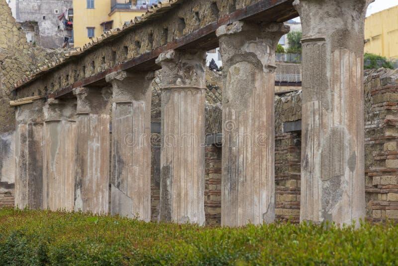 Руины на городе Геркуланума старом римском в Италии стоковое изображение
