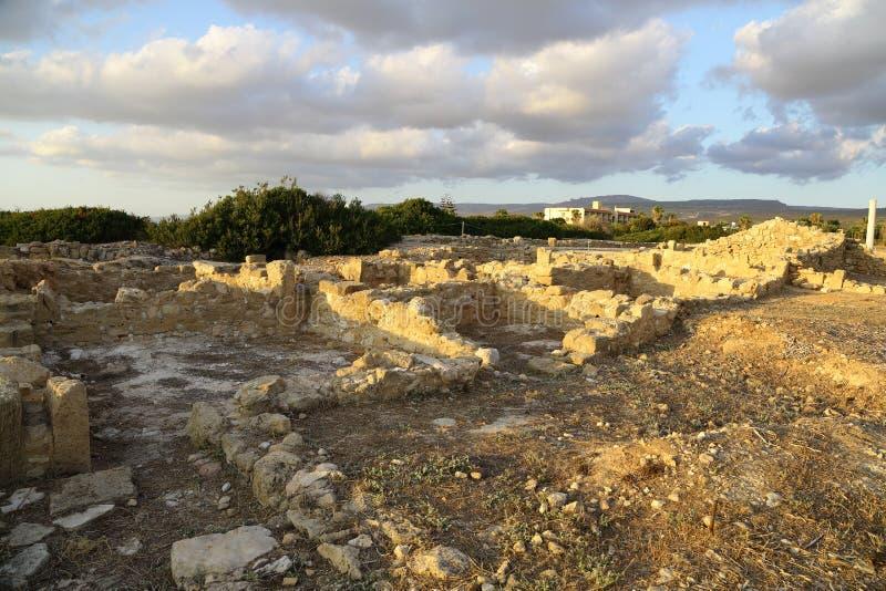 Руины на побережье Средиземного моря, Кипра стоковое изображение