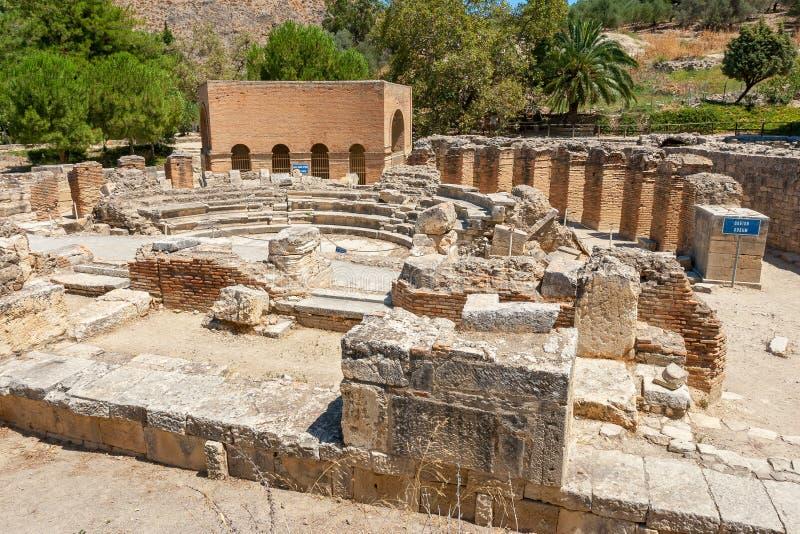 Руины на Gortyna Крит Греция стоковая фотография rf