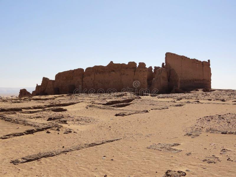 Руины на Qasr Dusch стоковая фотография rf