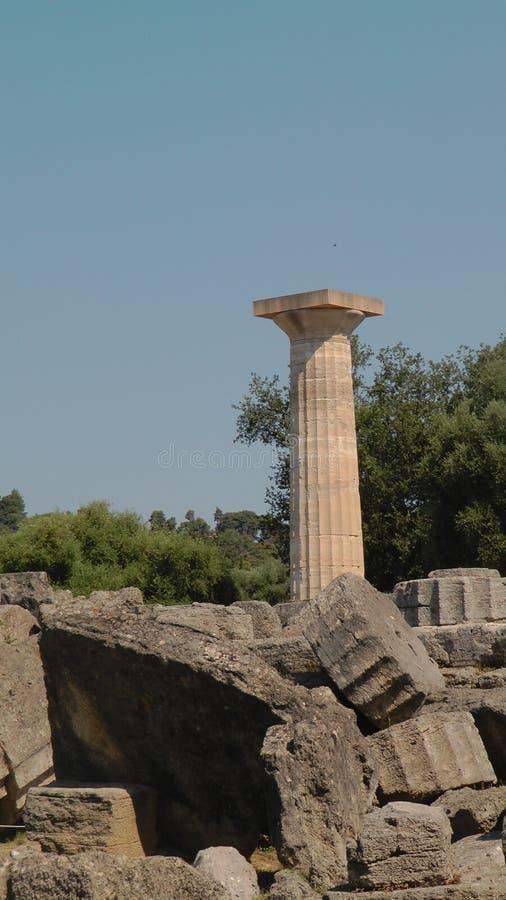 Руины Олимпии, археологическое место стоковое фото rf