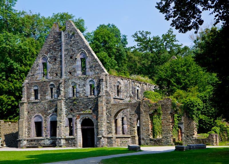 Руины пансионов аббатства Ла Ville Villers, Бельгии стоковые изображения