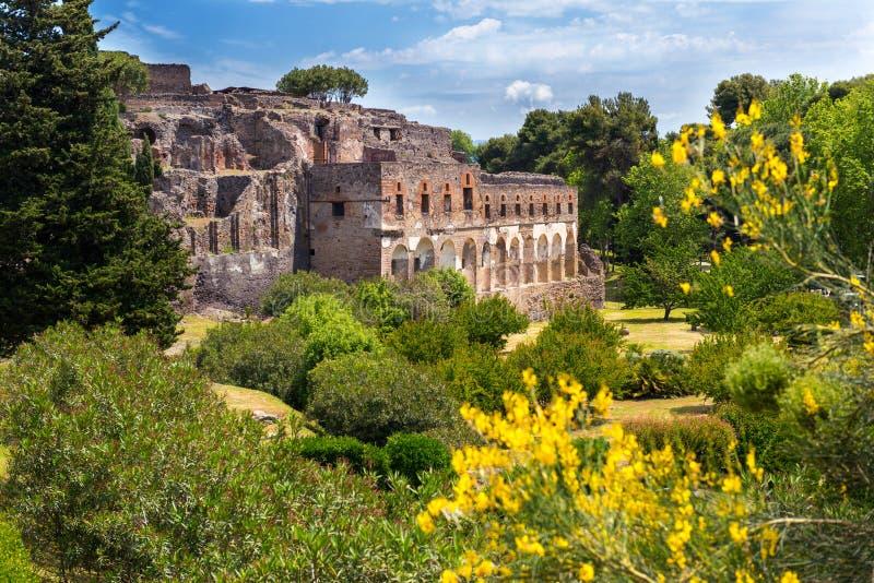 Руины Помпеи, Италии стоковое изображение rf