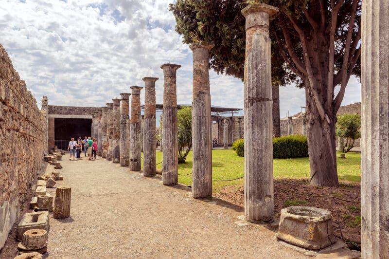 Руины Помпеи, Италии стоковое фото