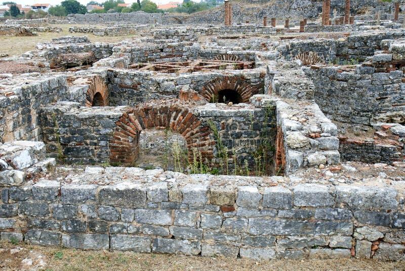 руины Португалии conimbriga римские стоковое фото