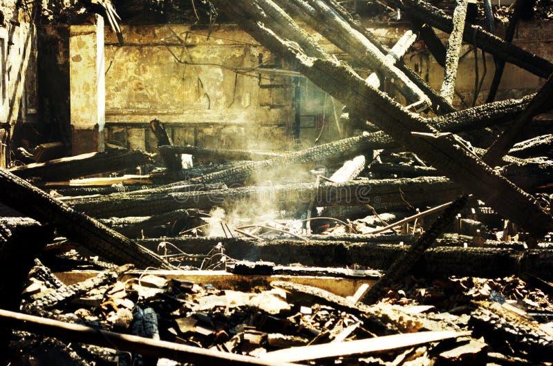 Руины после пожара стоковые изображения rf
