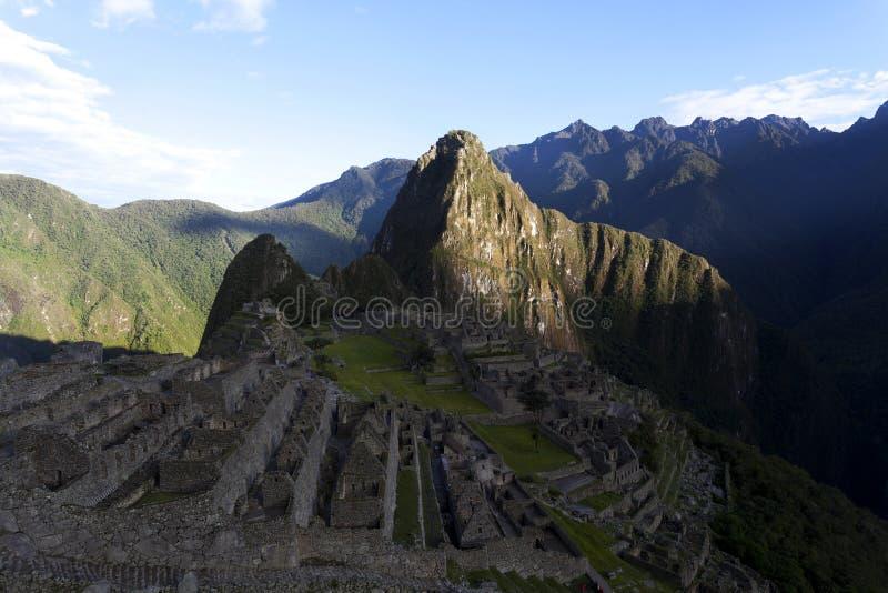 Руины потерянного города Machu Picchu Inca в Перу - Южной Америке стоковое фото rf
