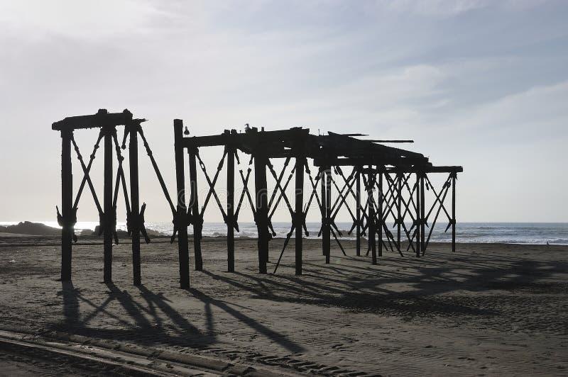 Руины пристани стоковая фотография rf