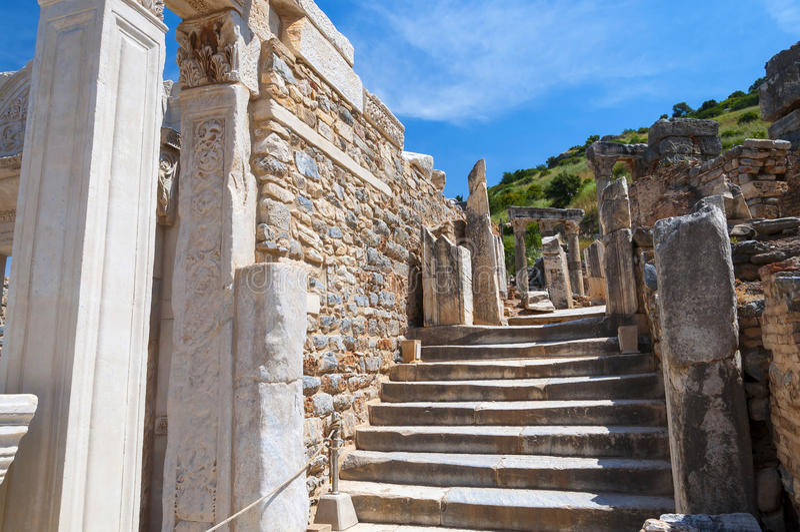 Руины древнего города Ephesus, Турции стоковое фото rf