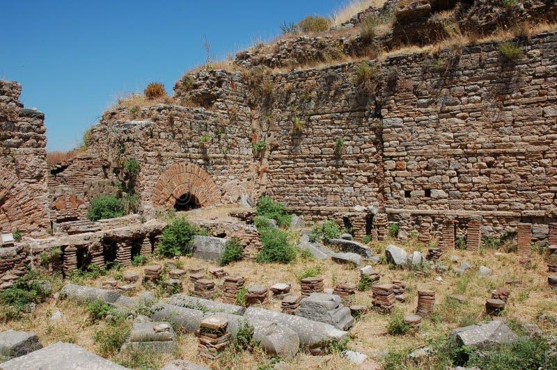Руины древнего города Ephesus, Турции стоковые изображения rf