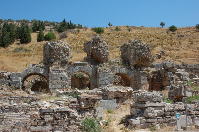 Руины древнего города Ephesus, Турции стоковое фото