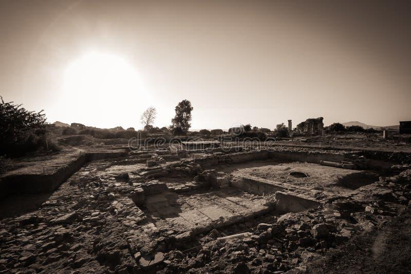 Руины древнего города Ephesus стоковая фотография rf