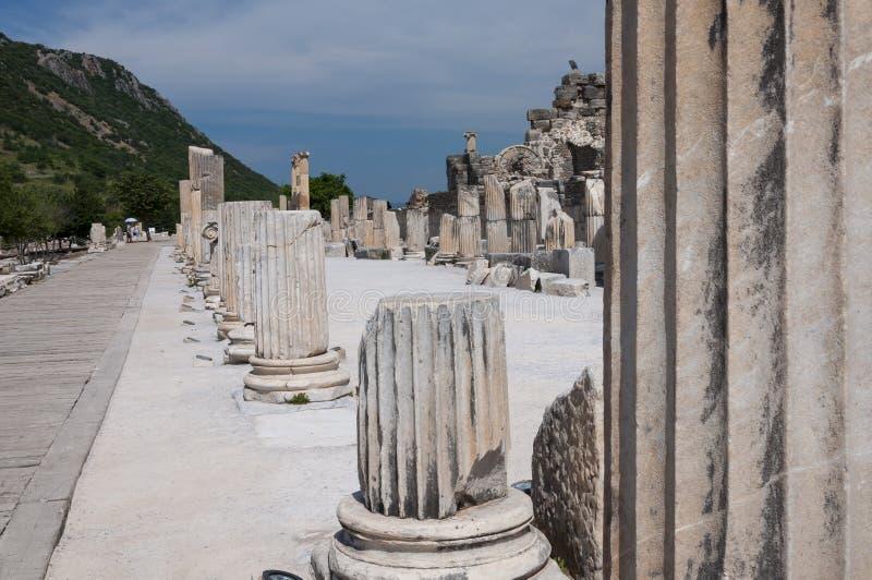 Руины древнего города Ephesus, Selcuk, Турции стоковая фотография
