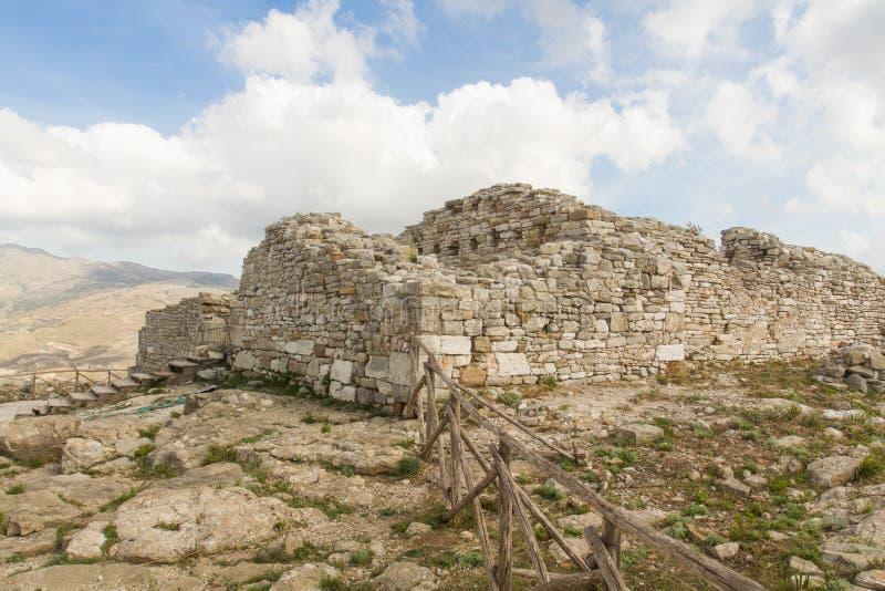 Руины древнего города Segesta стоковая фотография rf