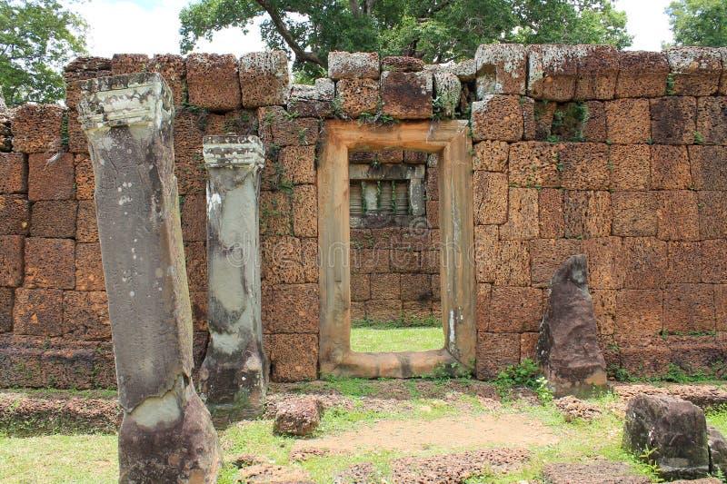 Руины древнего храма Камбоджи Siem Reap стоковое фото rf